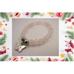 "Bracelet ""quartz rose"" 14..."