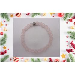 "Bracelet ""quartz rose"" 15,5..."